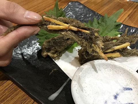 沖縄・奄美大島の郷土料理 美ら島 真心 もずくの天ぷら