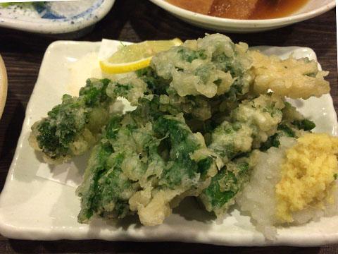 ホワイティうめだ 大ざわ 菜の花の天ぷら